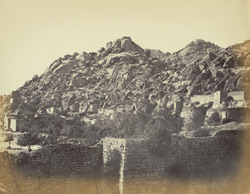 Close view of Fort wall, Chitradurga